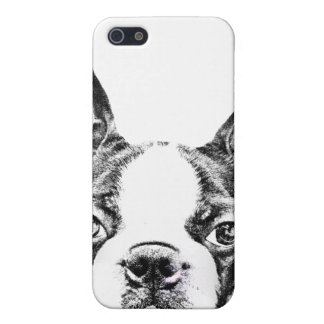 De leuke hond van Boston Terrier iPhone 5 Hoesje