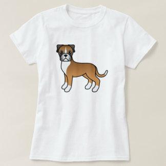 De leuke Hond van de Bokser van Fawn van de T Shirt