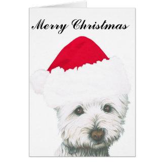 De leuke Hond van Westie van Kerstmis Briefkaarten 0