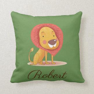 De leuke Illustratie van de Koning van de Leeuw Sierkussen