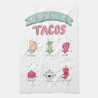De leuke illustratie van de Taco Theedoek