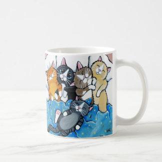 De leuke Illustratie van Sleepover van het Katje Koffiemok