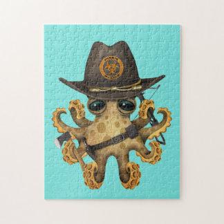 De leuke Jager van de Zombie van de Octopus van Foto Puzzels