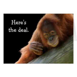 De leuke Jonge Verjaardag van de Orangoetan Briefkaarten 0