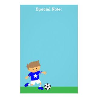 De leuke Jongen van de Ster van het Voetbal, het Gpersonaliseerd Briefpapier