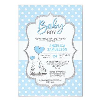 De leuke JONGEN van het Baby shower van de Olifant Kaart