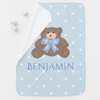 De leuke Jongen van het Baby van de Teddybeer van Inbakerdoek