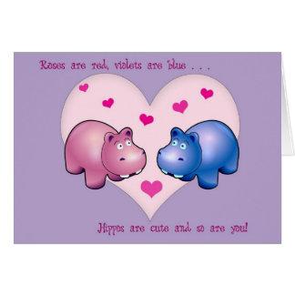 De Leuke Kaart Hippo van Valentijn