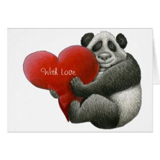 De leuke Kaart van de Nota van de Panda