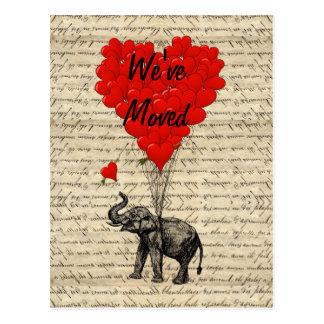 De leuke kaart van de olifantsadreswijziging