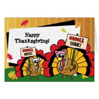 De leuke Kaart van de Thanksgiving van Turkije