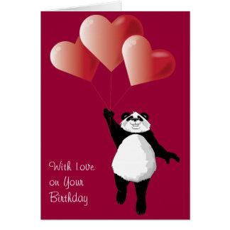 De leuke Kaart van de Verjaardag van de Panda