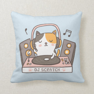 De leuke Kat van het Kat van de Kras van DJ werpt Sierkussen