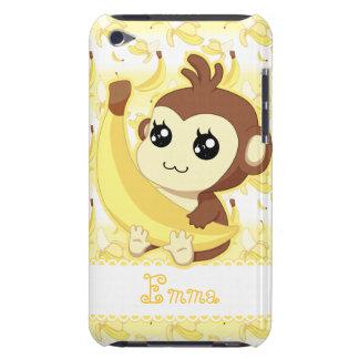 De leuke Kawaii banaan van de aapholding iPod Touch Hoesje