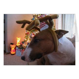 De leuke Kerstkaarten van het Puppy Wenskaart