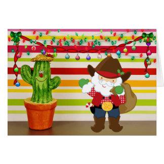 De leuke Kerstman van de Cowboy en Kerstmis van Kaart