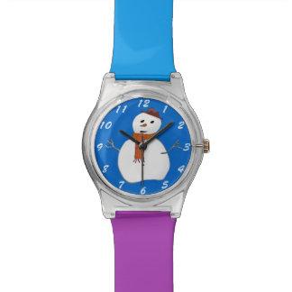 De leuke Keus van de Sneeuwman van de Cartoon van  Horloge