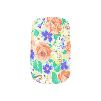 De leuke kleurrijke patronen van vlindersrozen minx nail folie