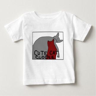 De leuke Knuffel van de Kat Baby T Shirts