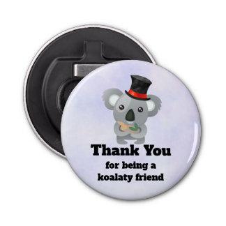 De Leuke Koala van de Woordspeling van de Vriend Button Flesopener