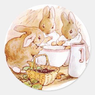 De leuke, Konijntjes van Beatrix Potter, Douane Ronde Sticker