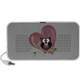 De leuke Krabbel van de Uil en van het Hart PC Speakers