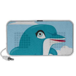 De leuke Kunst van de Dolfijn op de Spreker van de Speaker Systeem