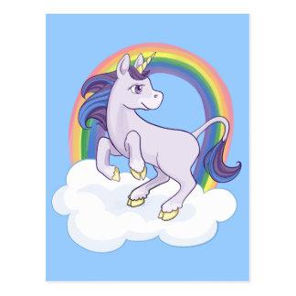 De leuke Magische Eenhoorn van de Regenboog Briefkaart