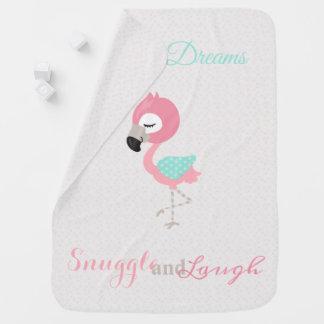 De leuke Neutrale Flamingo van het Decor van de Inbakerdoek