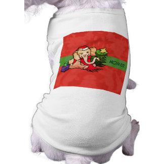 De leuke Olifant van Kerstmis van de Cartoon met Shirt
