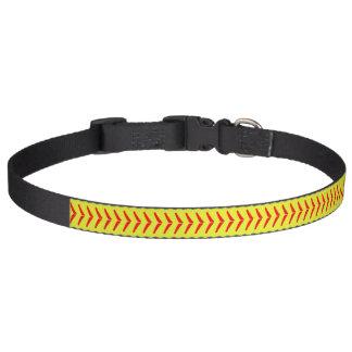 De leuke Optische Gele Halsband van het Softball Huisdier Halsbandje