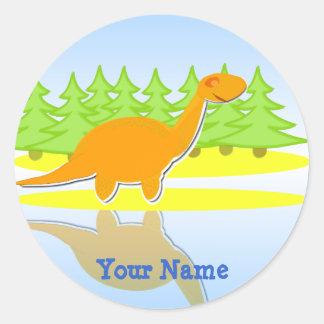 De leuke Oranje Stickers van de Naam van de