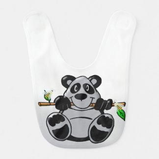 De leuke Panda die van het Baby Bamboe eten Baby Slabbetje