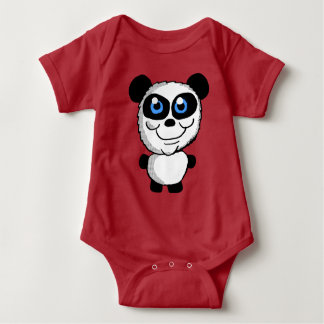 De leuke Panda draagt Cartoon Romper