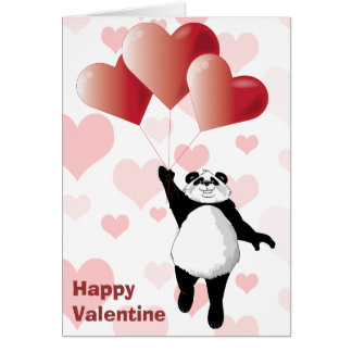 De leuke Panda & Kaart van Valentijn van Ballons