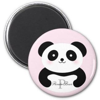 De leuke Panda van het Baby Girly draagt Monogram Magneet
