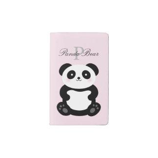 De leuke Panda van het Baby Girly draagt Monogram Pocket Moleskine Notitieboekje
