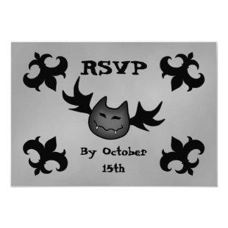 De leuke partij RSVP van vampier grappige 8,9x12,7 Uitnodiging Kaart