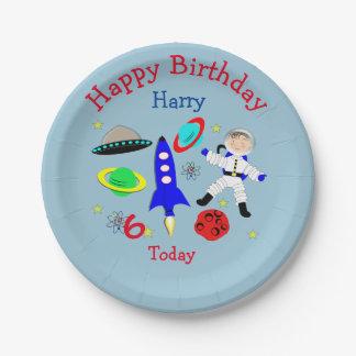 De leuke Partij van de Verjaardag van kosmische Papieren Bordje