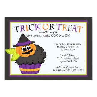 De leuke Partij van het Kostuum van Halloween 12,7x17,8 Uitnodiging Kaart