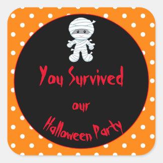 De leuke Partij van het Kostuum van Halloween van Vierkante Sticker