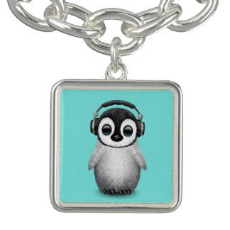 De leuke Pinguïn DJ die van het Baby Bedel Armband