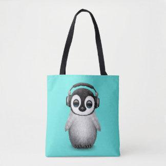 De leuke Pinguïn DJ die van het Baby Draagtas
