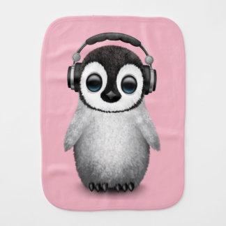 De leuke Pinguïn DJ die van het Baby Spuugdoekje
