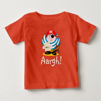 De leuke piraat die van de pretcartoon een baby t shirts