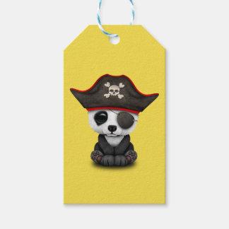 De leuke Piraat van de Panda van het Baby Cadeaulabel