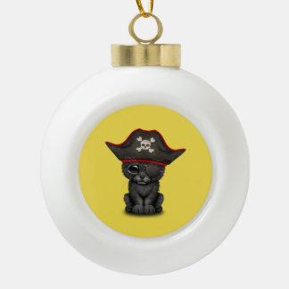 De leuke Piraat van de Welp van de Panter van het Keramische Bal Ornament