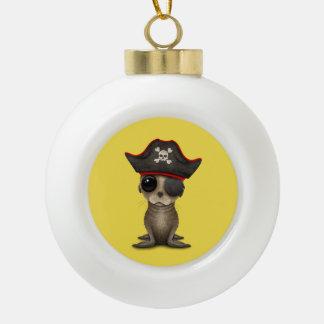 De leuke Piraat van de Zeeleeuw van het Baby Keramische Bal Ornament