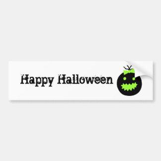De leuke Pompoen van Halloween Bumpersticker