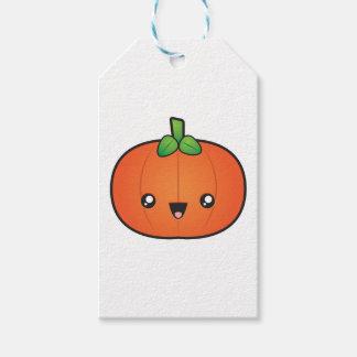 De leuke Pompoen van Halloween Cadeaulabel